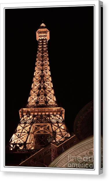 Eiffel Tower Light Up My Dreams Canvas Print