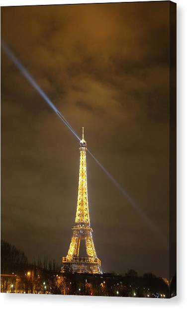 Antique Canvas Print - Eiffel Tower - Paris France - 011349 by DC Photographer
