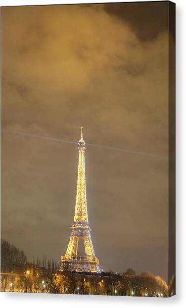Antique Canvas Print - Eiffel Tower - Paris France - 011354 by DC Photographer