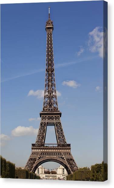 Canvas Print featuring the photograph Eiffel Tower Paris by Georgi Djadjarov
