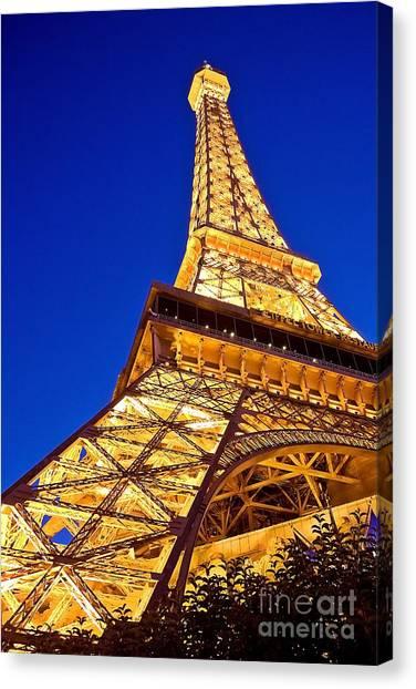Eiffel Tower Paris Las Vegas Canvas Print