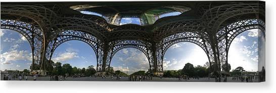 Eiffel Tower Unwrapped Canvas Print by Gary Lobdell