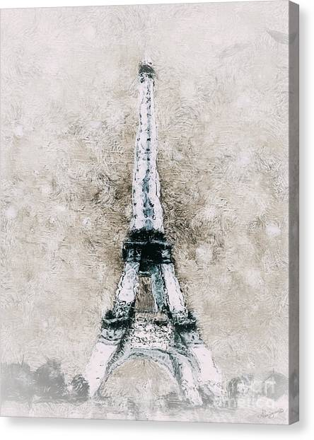Swirly Canvas Print - Eiffel Tower Wall Art by Shanina Conway