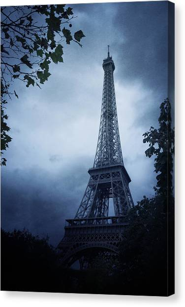 Old Canvas Print - Eiffel Tower by Cambion Art