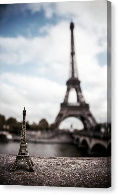 Eiffel Tower Canvas Print - Eiffel Trinket by Ryan Wyckoff