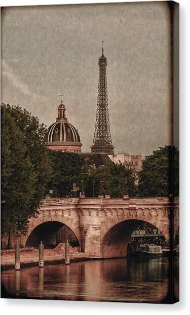 Eiffeltower With Pont Neuf Canvas Print