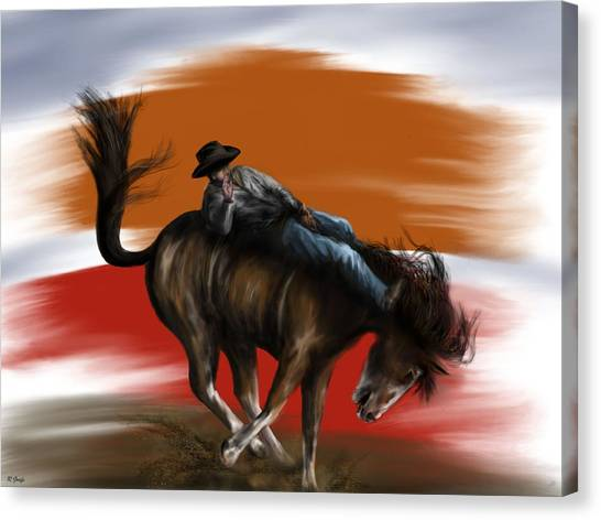 Eight Seconds - Rodeo Bronco Canvas Print