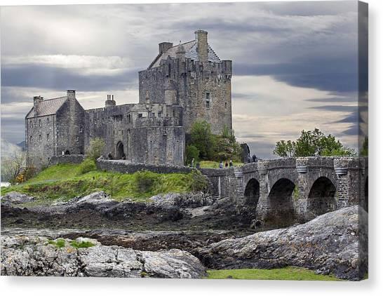 Canvas Print featuring the photograph Eilean Donan Castle Scotland Uk by Georgi Djadjarov