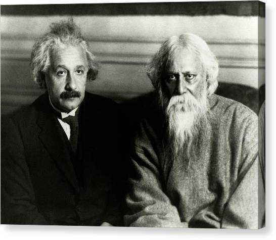E.t Canvas Print - Einstein And Tagore by Emilio Segre Visual Archives/american Institute Of Physics