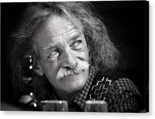 Einstein Hair Canvas Print