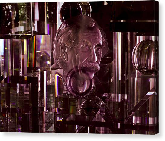 Einstein In Crystal - Purple Canvas Print