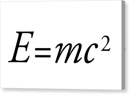 Einstein's Mass-energy Equation Canvas Print by Science Photo Library