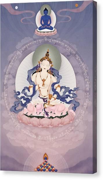 Eka Vajrasattva Canvas Print by Ben Christian