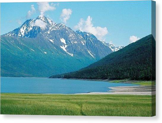 Eklutna Lake Canvas Print by Ginger Bear