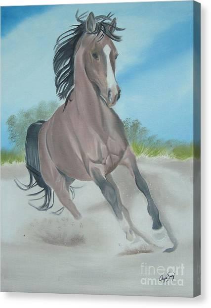 El Caballo Canvas Print by Angela Melendez