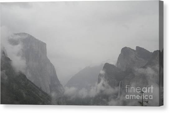 El Capitan And Bridal Veil Falls Revealed Canvas Print