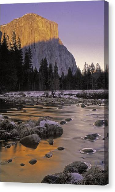 El Capitan Sunset And The Merced River Canvas Print