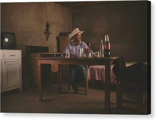 Cowboy Canvas Print - El Descanso. by Giacomo Bruno