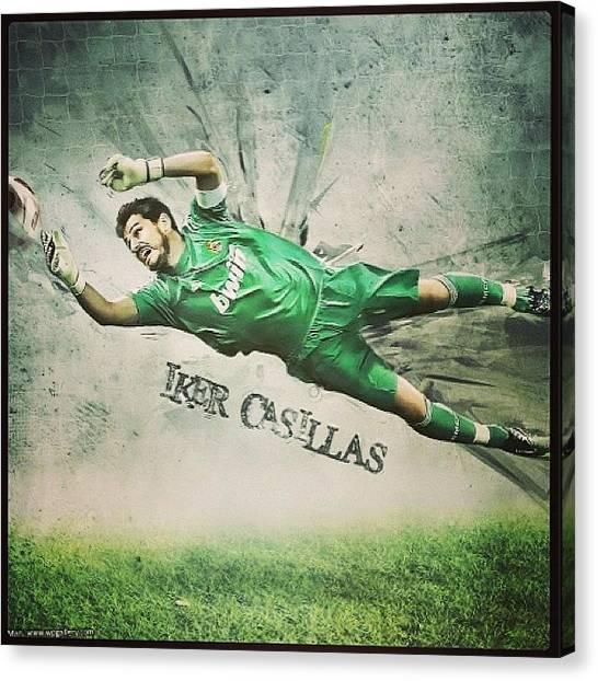 Football Players Canvas Print - El Mejor!! #tagstagram.app #soccer by Daniel Daniel