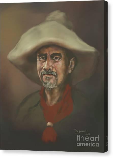Canvas Print featuring the digital art El Mestizo by Dwayne Glapion