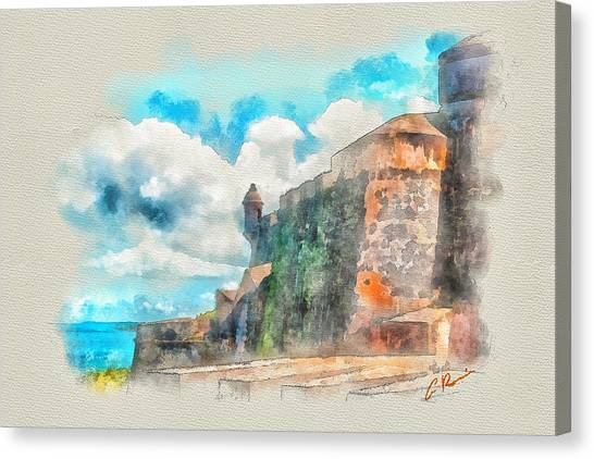 El Morro Castle.. Canvas Print