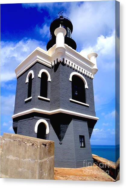 Venezuelan Canvas Print - El Morro Lighthouse by Carey Chen