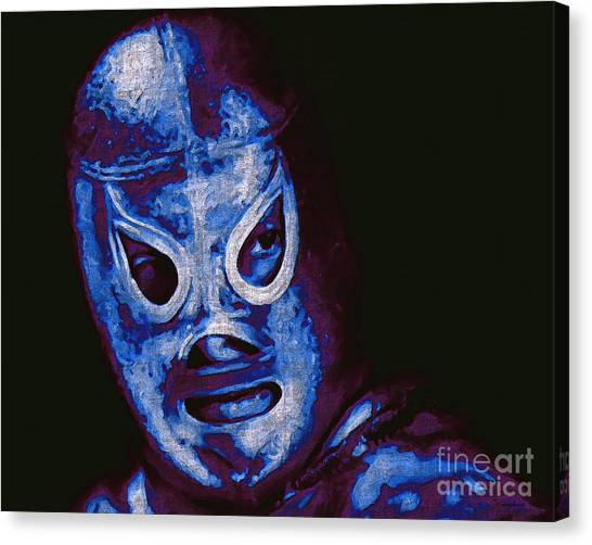 Wwe Canvas Print - El Santo The Masked Wrestler 20130218m168 by Wingsdomain Art and Photography