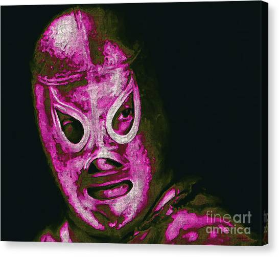 Wwe Canvas Print - El Santo The Masked Wrestler 20130218m68 by Wingsdomain Art and Photography