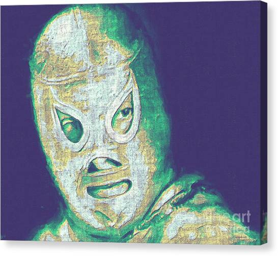 Wwe Canvas Print - El Santo The Masked Wrestler 20130218v2 by Wingsdomain Art and Photography