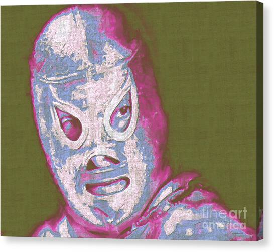 Wwe Canvas Print - El Santo The Masked Wrestler 20130218v2m168 by Wingsdomain Art and Photography