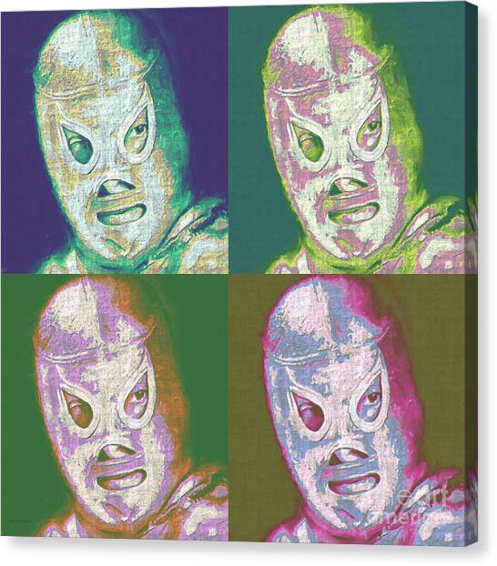 Wwe Canvas Print - El Santo The Masked Wrestler Four 20130218 by Wingsdomain Art and Photography