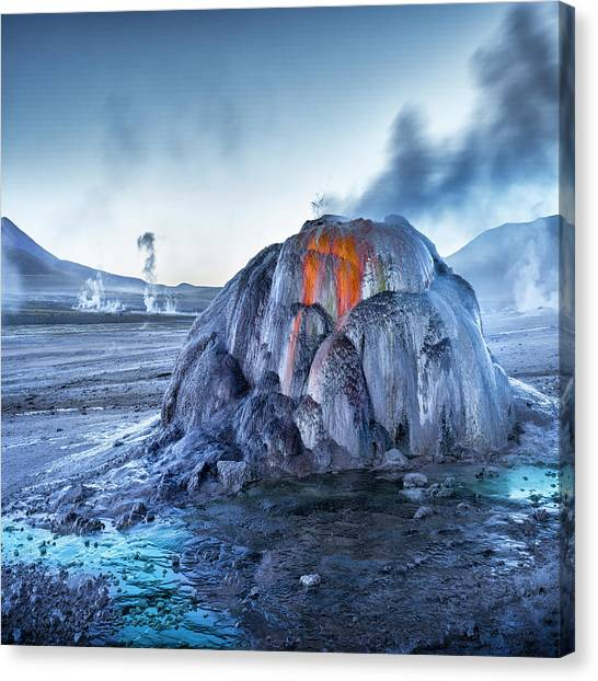 Andes Mountains Canvas Print - El Tatio by Ignacio Palacios