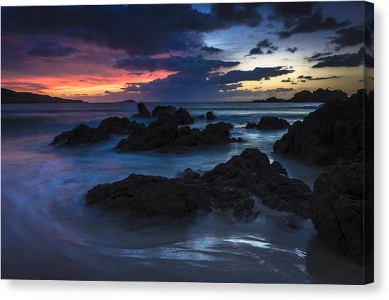 El Villar Beach Galicia Spain Canvas Print
