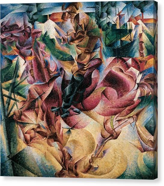Futurism Canvas Print - Elasticity by Umberto Boccioni