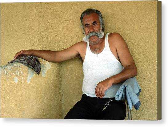 Impartial Canvas Print - Elderly Man Relaxing by Mark Goebel