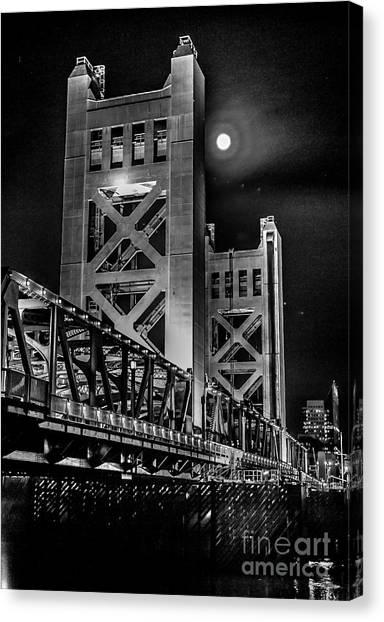 Electric Bridge Canvas Print