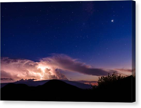 Electric Heavens 1 Canvas Print