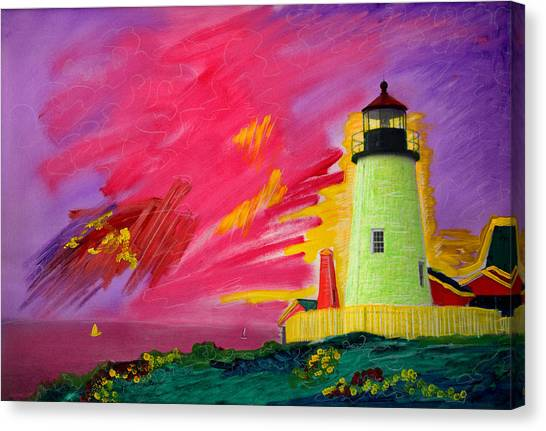 Electric Lighthouse Canvas Print