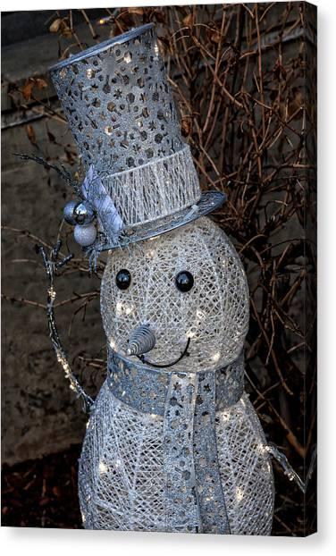 Electric Snowman Canvas Print