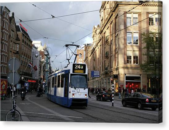 Light Rail Canvas Print - Electric Tram by Chris Martin-bahr/science Photo Library