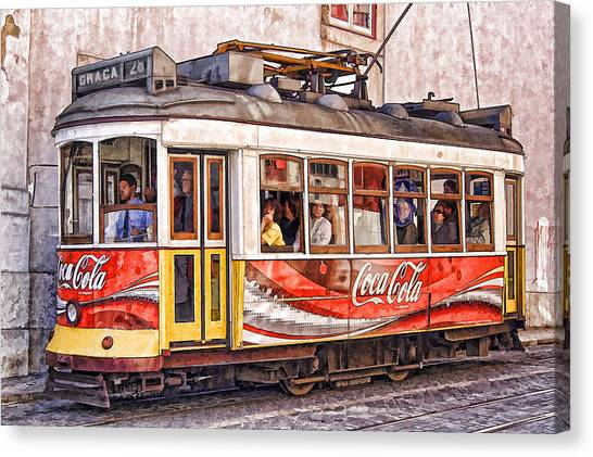 Electric Trolly Of Lisbon Canvas Print