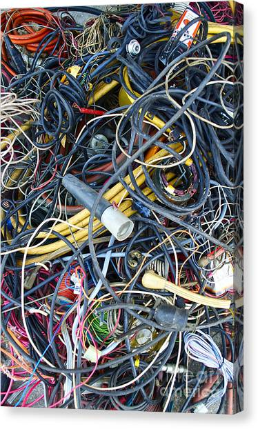 Electrical Cord Picking Canvas Print