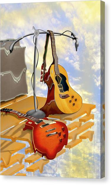 Microphones Canvas Print - Electrical Meltdown by Mike McGlothlen