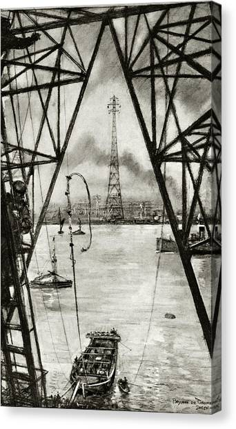 Installation Art Canvas Print - Electrification Of England by Cci Archives