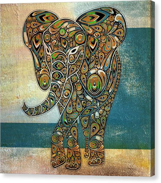 Elefantos - 01ac03at03b Canvas Print
