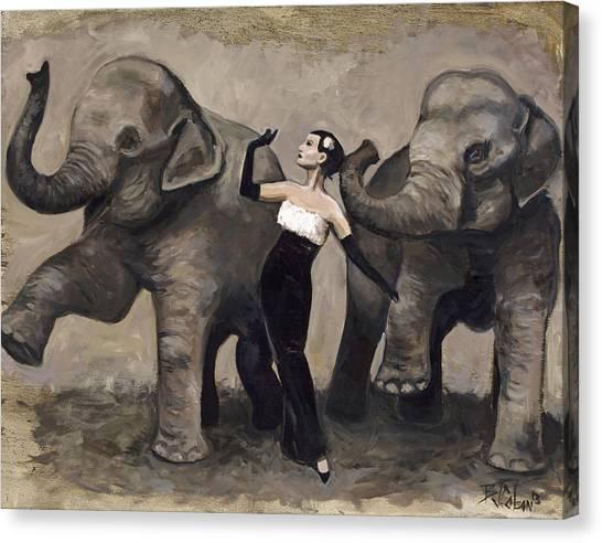 Elegance And Elephants Canvas Print
