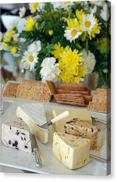 Elegant Cheese Buffet Canvas Print