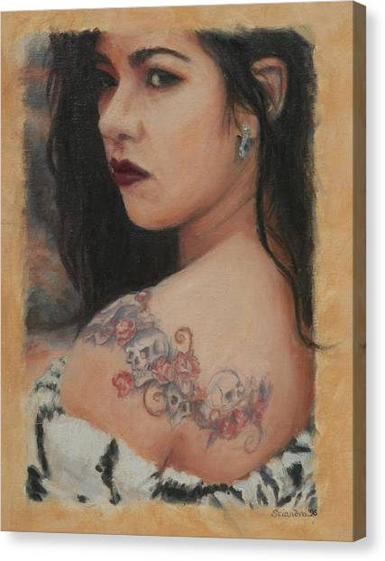 Elegant Ink Canvas Print