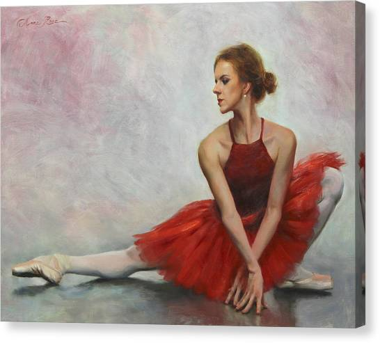 Ballet Canvas Print - Elegant Lines by Anna Rose Bain