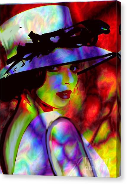 Elegant Woman In Shade Canvas Print
